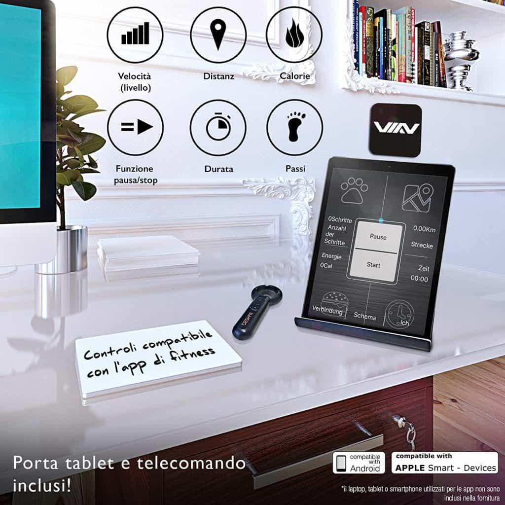 Sportstech Scrivania porta tablet